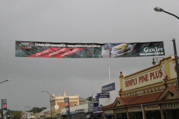 Scouts Rally SA banners in the Town of Gawler